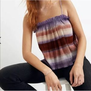 Madewell TEXTURE &AMP THREAD MICROPLEAT TANK TOP